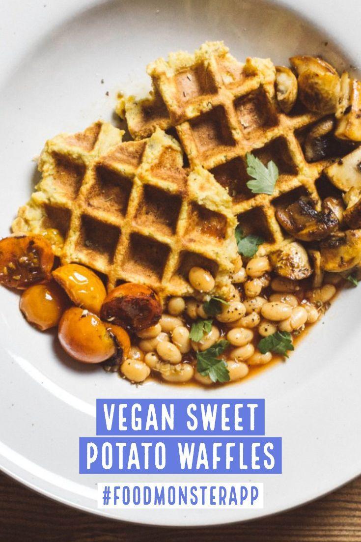 Sweet Potato Waffles Vegan In 2019 Vegan Breakfast