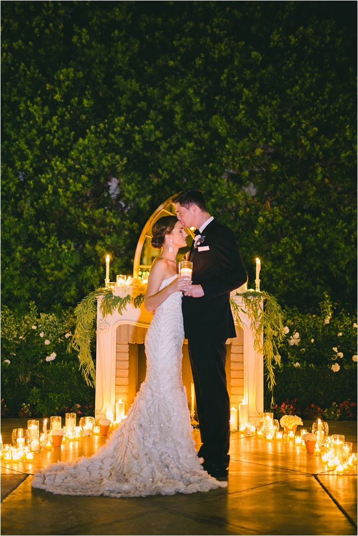 Romantic and Elegant Blue Franciscan Gardens Wedding
