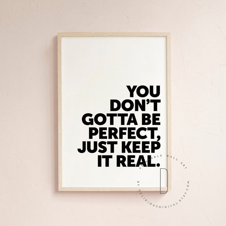 Keep It Real Rap Quotes Wall Art Rap Art Print Rap Poster Etsy Rap Quotes Wall Art Quotes Wall Quotes