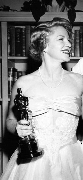 """Claire Trevor...The Academy Awards Ceremony 1949: Best Supporting Actress Oscar for """"Key Largo"""" 1948."""