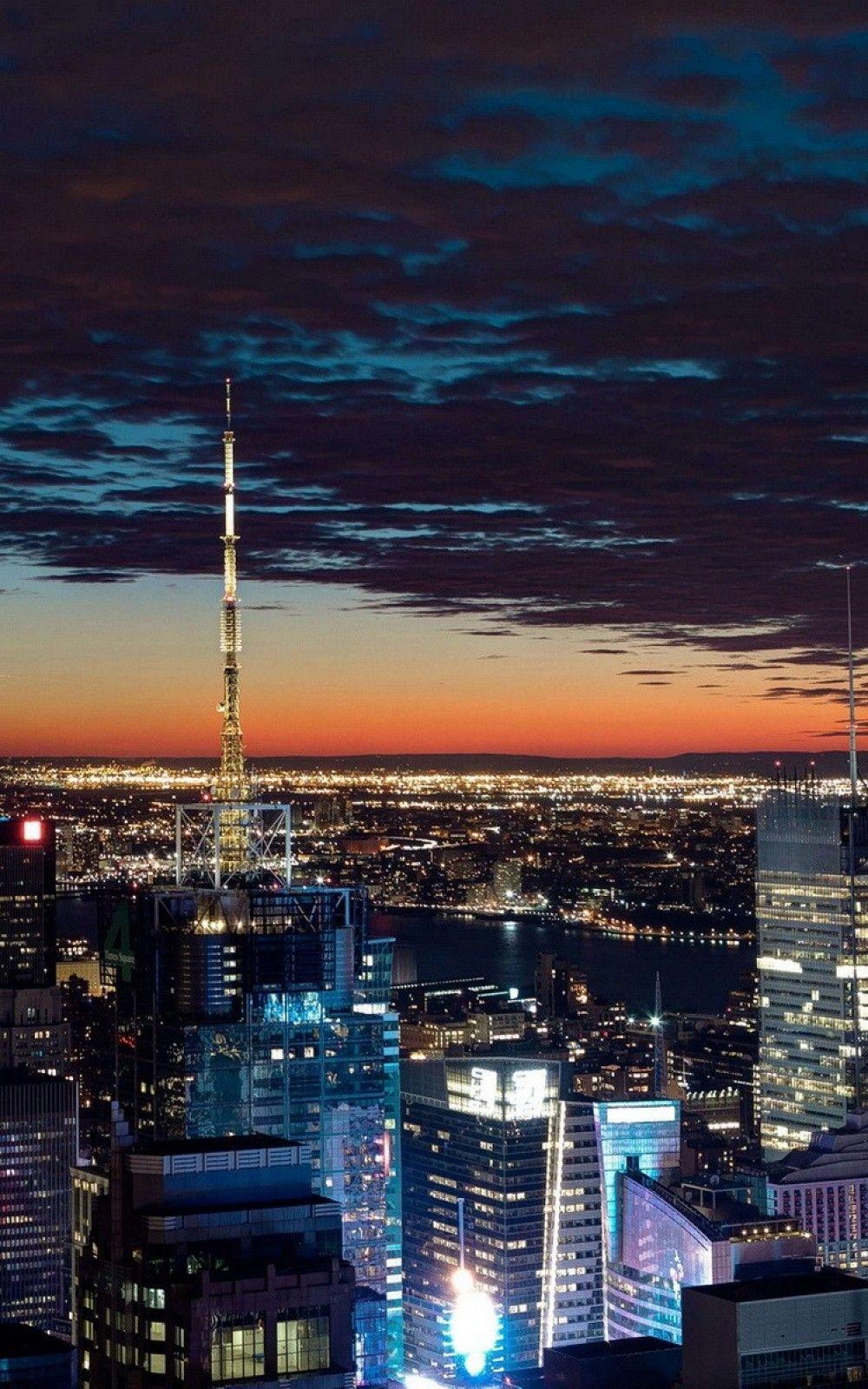 Dark Night City Skyline 4k Hd Android And Iphone Wallpaper Background And Lockscreen Check More At Https Phonewallp Com Dar Night City City Wallpaper Skyline