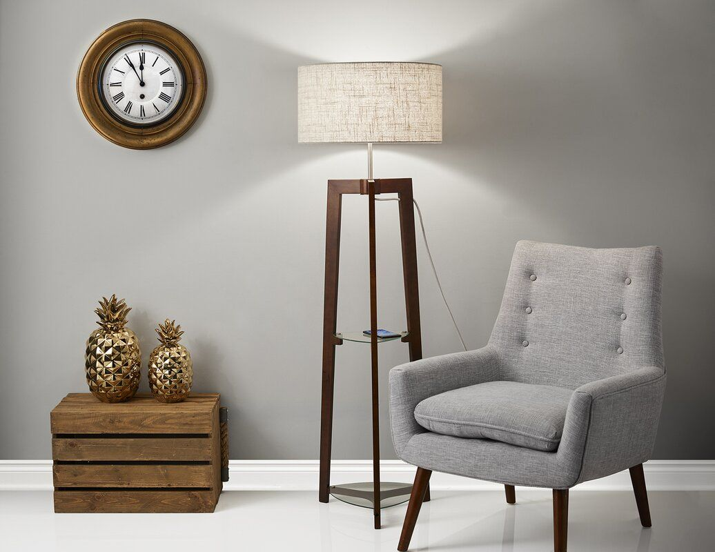 """Brayden Studio Shaffer Shelf 60"""" Floor Lamp Wayfair in"""