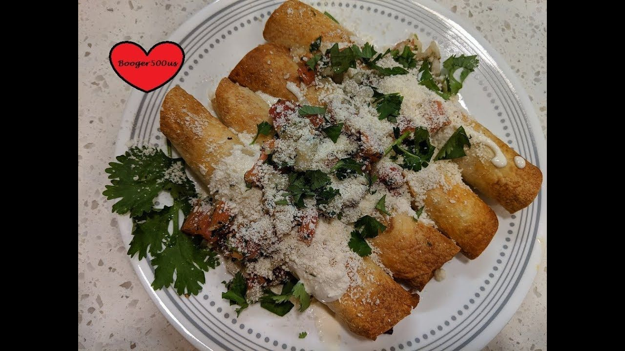 CHICKEN AND BEEF TAQUITOS AIR FRYER YouTube Taquitos
