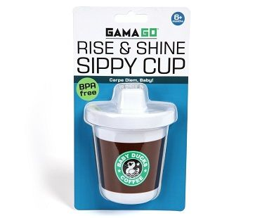 Coffee Style Sippy Cup Funny Baby Shower Gifts Funny Baby Gifts New Baby Products