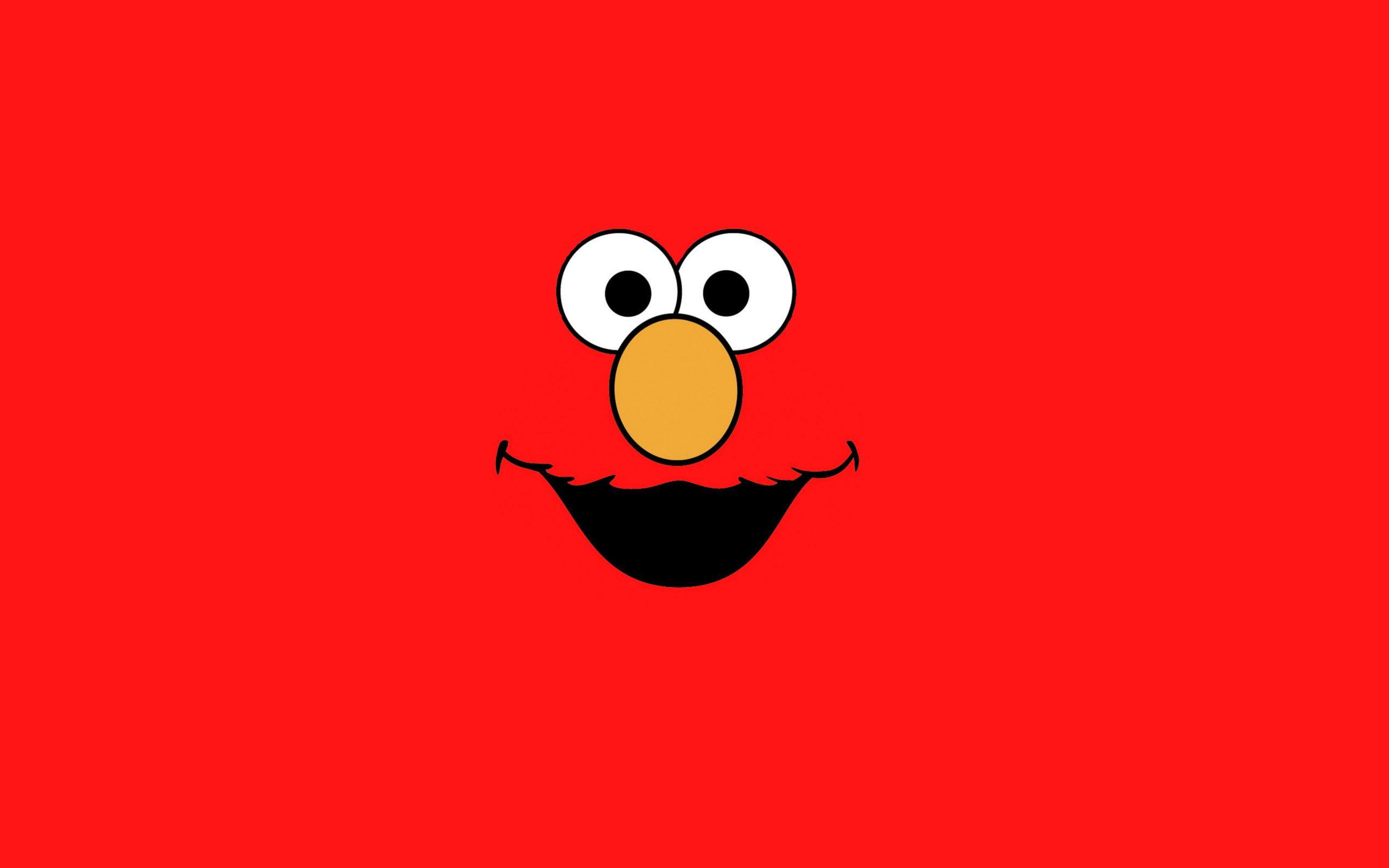 Sesame Street Minimalism Elmo 2k Wallpaper Hdwallpaper Desktop Elmo Wallpaper Sesame Street Elmo
