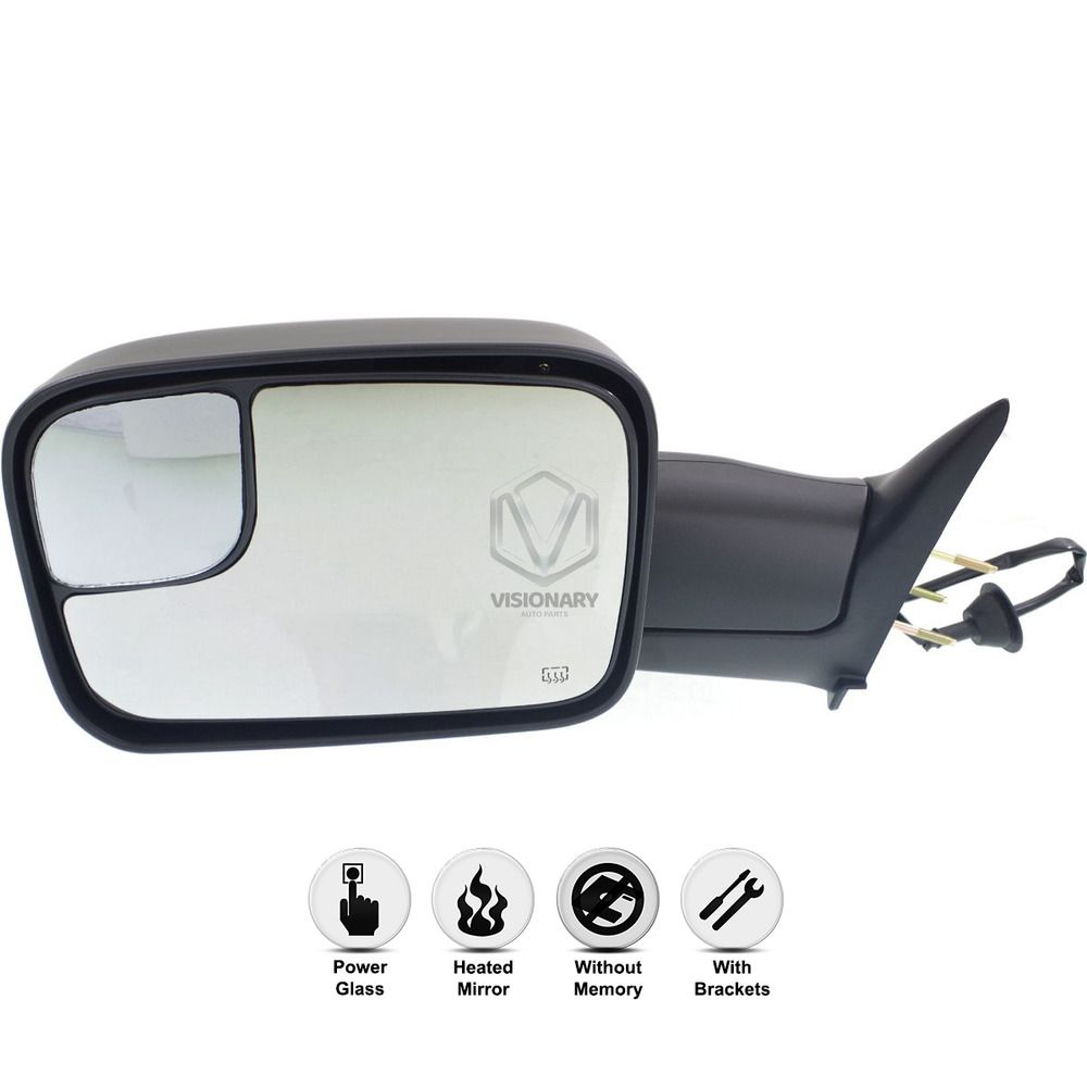 New Driver Side Power Heated Flip Up Mirror For Dodge Ram 1500 2500 98 2002 Dodge Ram New Drivers Dodge Ram 1500