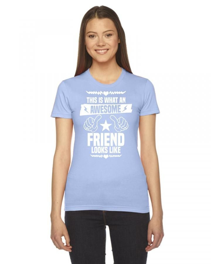 this is what an awesome friend looks like 1 Ladies Fitted T-Shirt