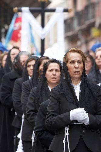 Processione del cristo morto, Cagliari, Sardinia. Religious tradition on the streets of Sardinia