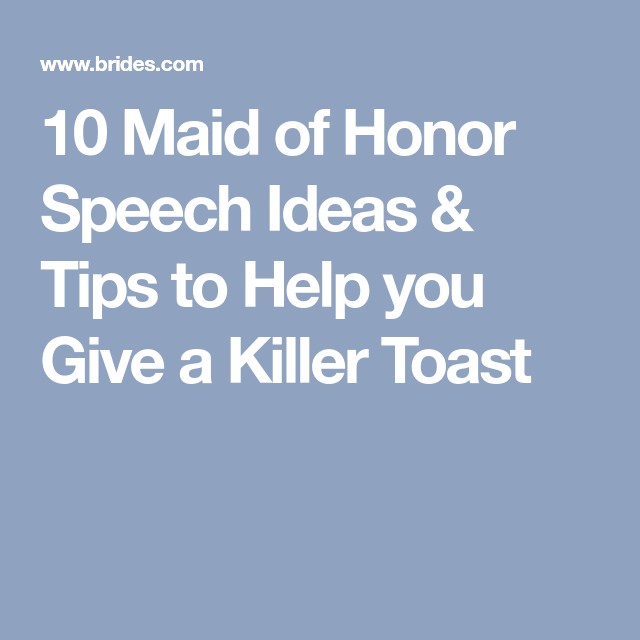 10 maid of honor speech ideas tips to help you give a killer toast 10 maid of honor speech ideas tips to help you give a killer toast junglespirit Gallery