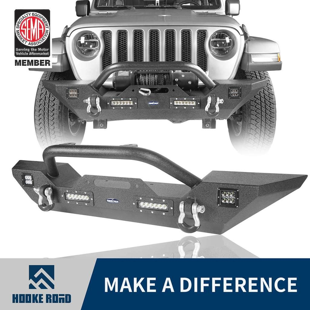 Hooke Road Different Trail Front Bumper W Winch Plate Mid Width