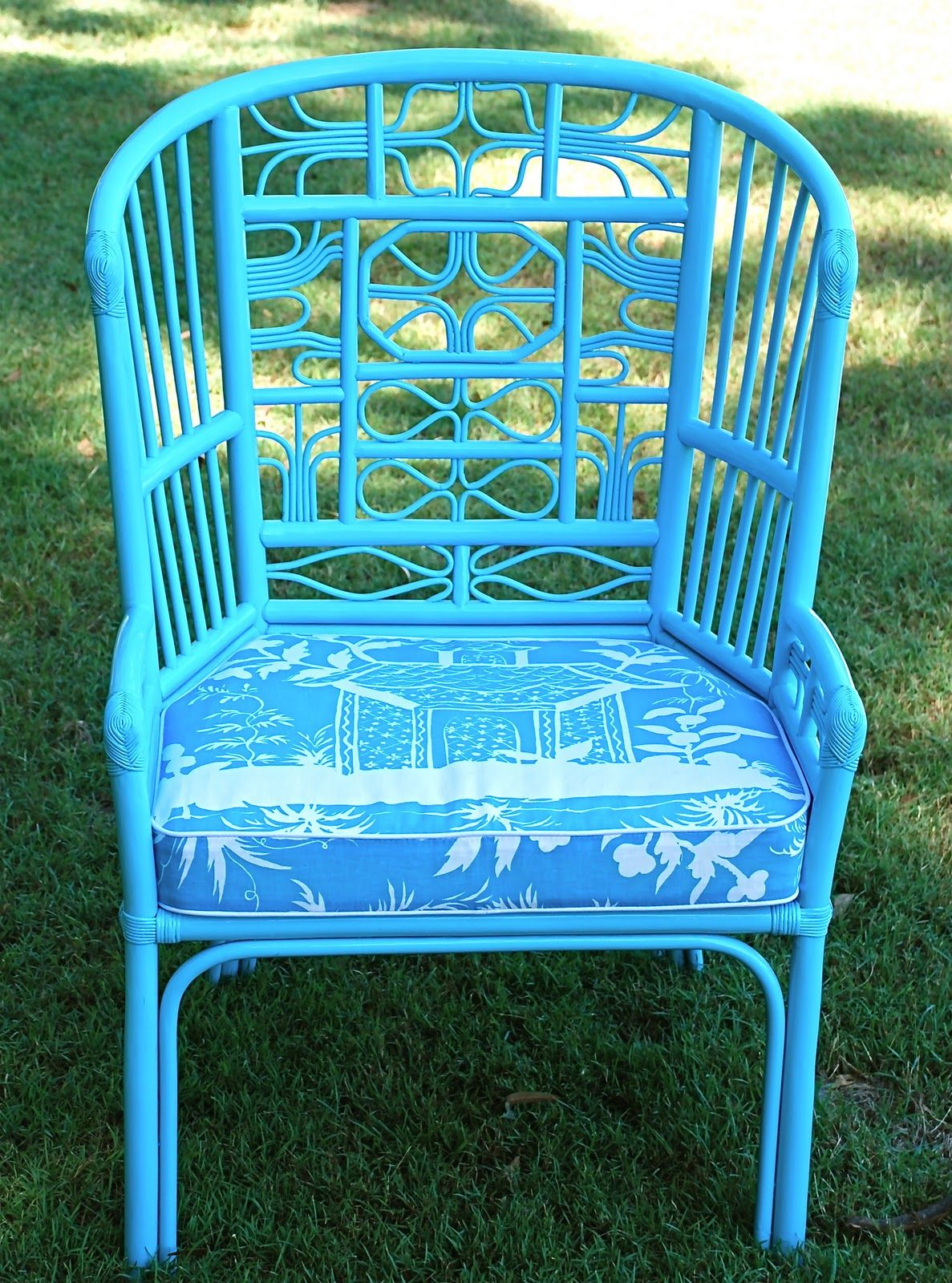 Painted chairs pinterest - Painted Bamboo Chairs
