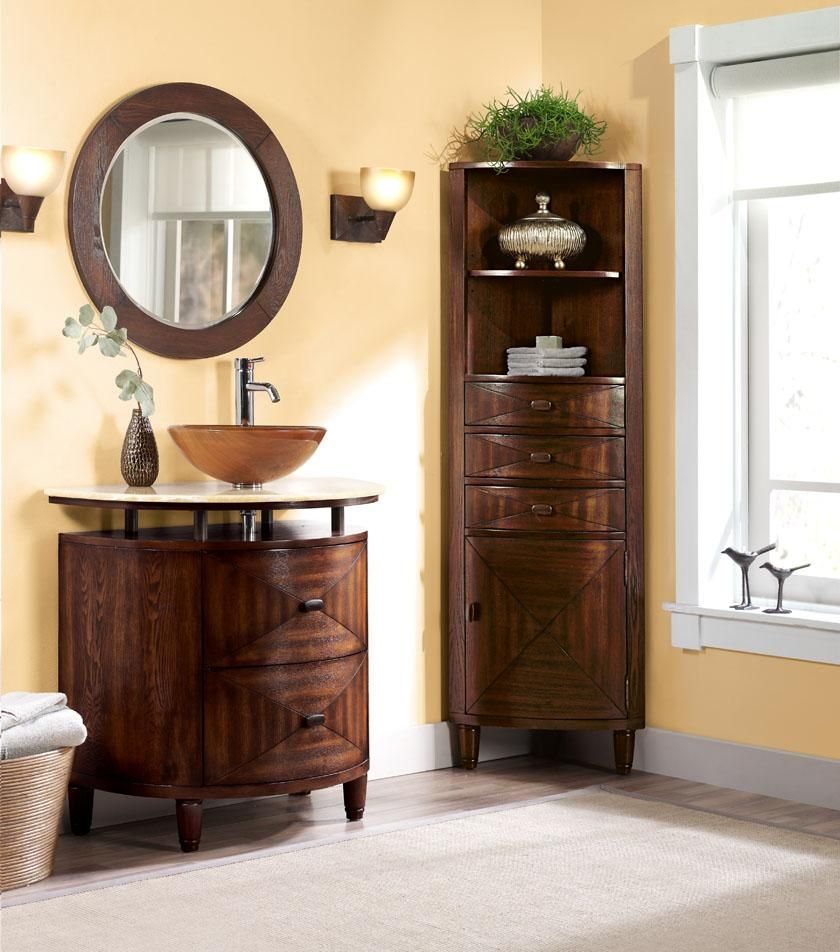 This Rocks My Socks  For The Home  Pinterest  Bathroom Cabinets Stunning Small Corner Cabinet Bathroom Design Ideas