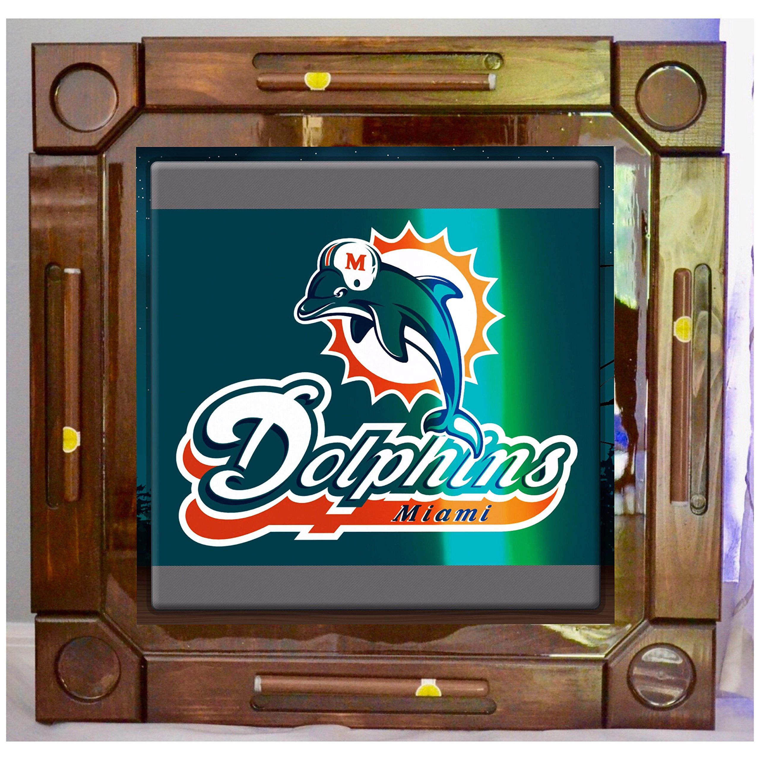 Wooden/wood Dominoes/domino Table/mesa Custom Made Miami Dolphins Made In  USA. Made From Solid And Hight Quality Wood ,this Beautiful Dominoes Table  It Is ...