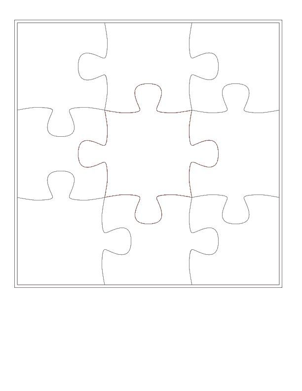 Jigsaw Puzzle Template 4 Piece Jigsaw Puzzle Template