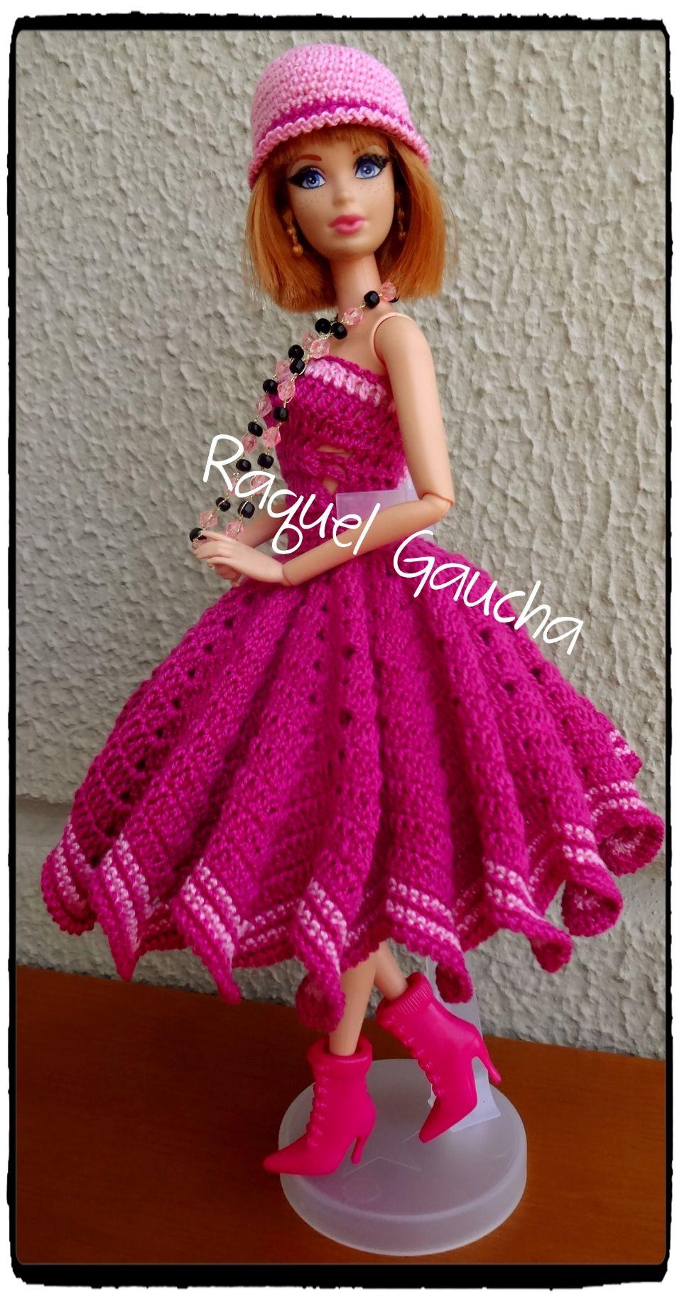 Cléa1000 #Crochet #Vestido #Dress #Chapéu, #Sombrero #Gorrito ...