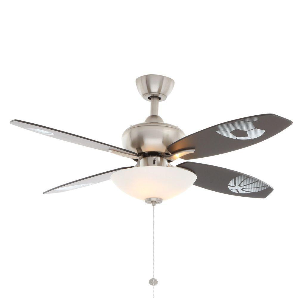 Home Depot Bedroom Ceiling Fans.Hampton Bay Everstar 44 In Indoor Brushed Nickel Ceiling