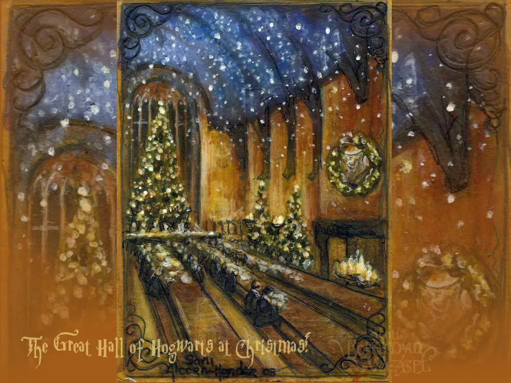 Harry Potter Christmas 08 wallpaper (Great Hall) | christmas ...