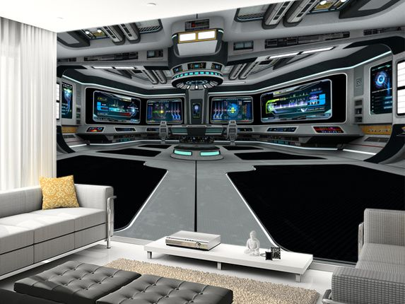 Good Spaceship Deck Wall Mural Room Setting Part 6