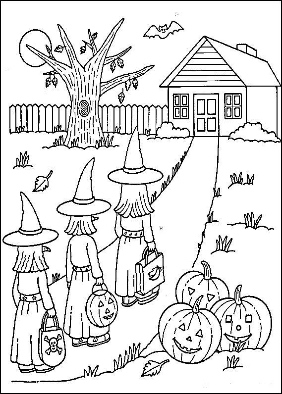 Free Printable Coloring Pages Kids Halloween Boyama Sayfalari