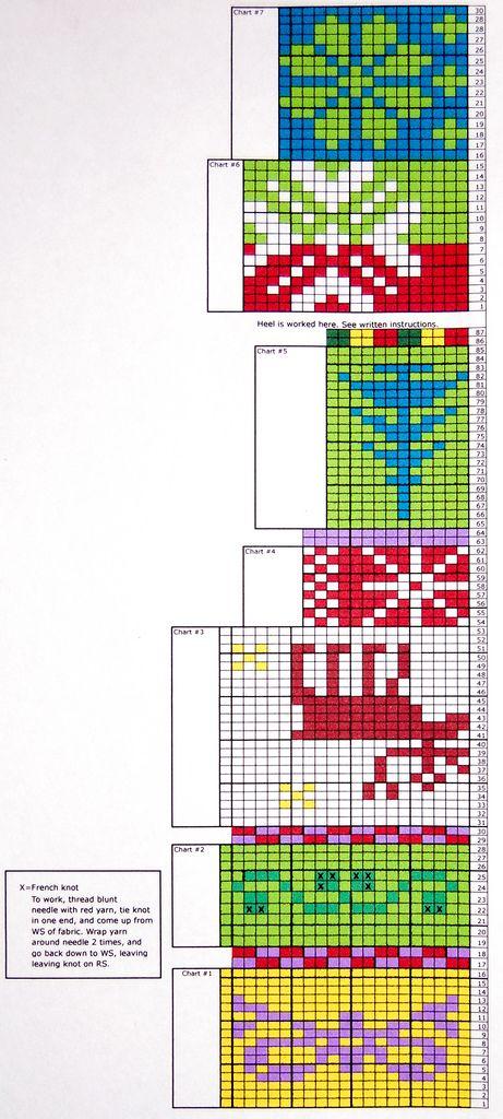 Knitting Charts Christmas : Knitting chart for monterey christmas stocking