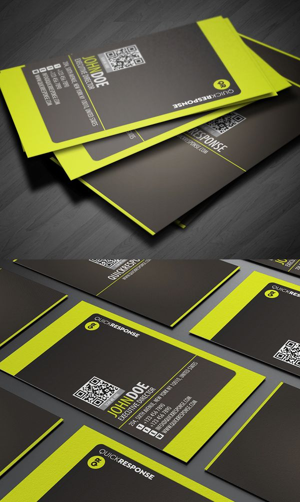Neon lime green business card design business card pinterest neon lime green business card design reheart