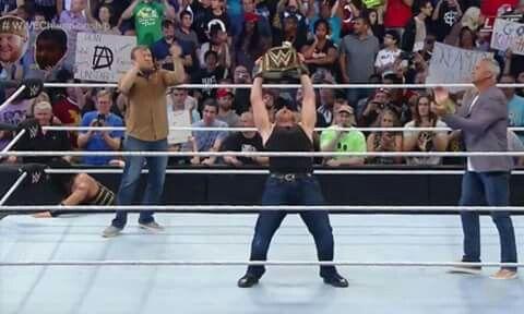 7/24/16 Retaining the WWE Championship