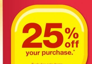 CVS: Check Emails for 25% off Purchase CVS Store Coupon valid for In-Stores Only!