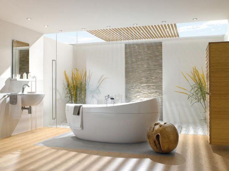 Das Badezimmer Deco Zen Inspiriert Japanisch Salle De Bains Moderne Baignoire Design Salle De Bain Italienne