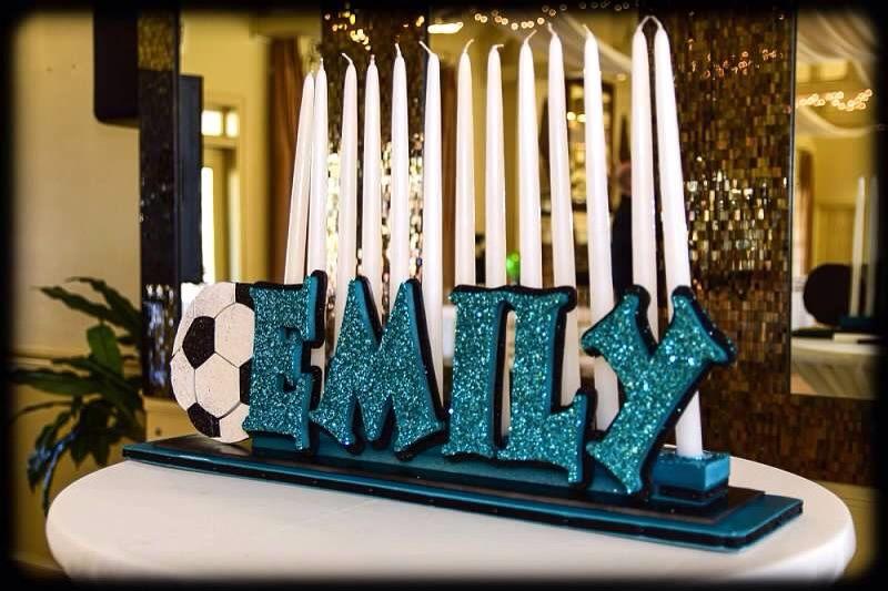 Soccer Candle Lighting Bat Mitzvah In 2019 Bat Mitzvah