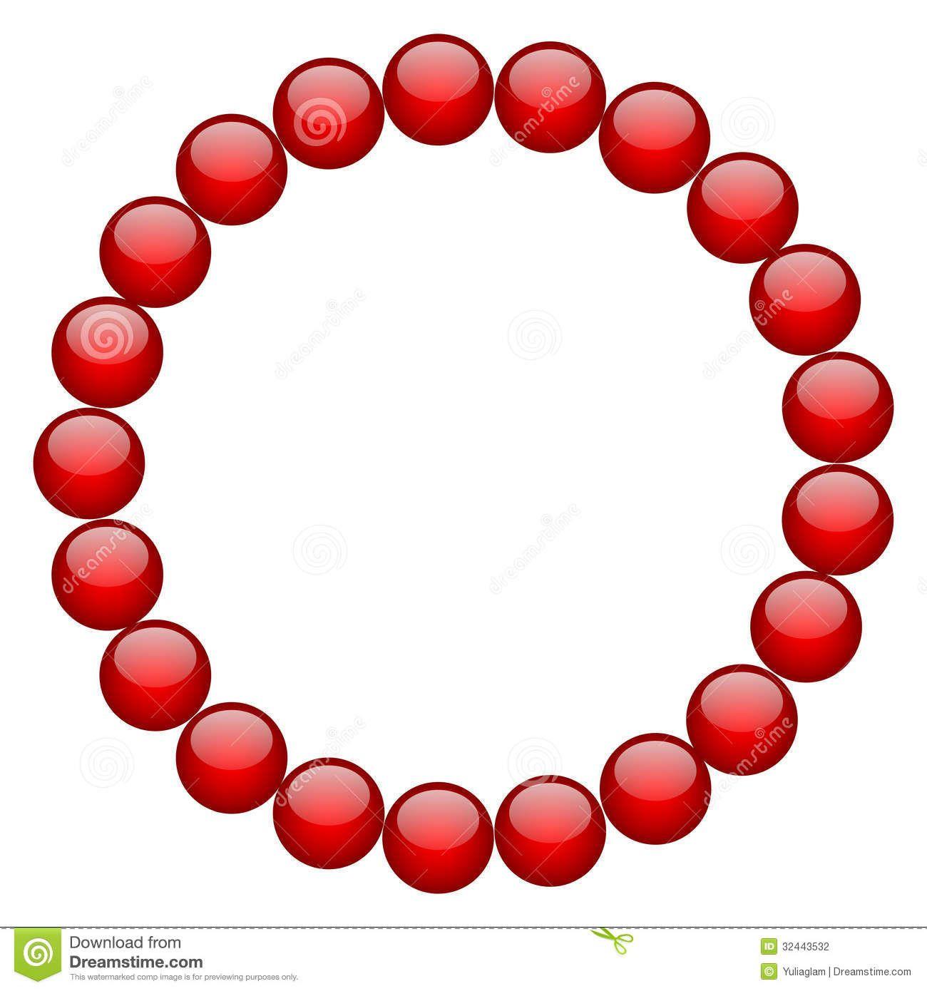 red-beads-vector-frame-32443532.jpg (1300×1390)
