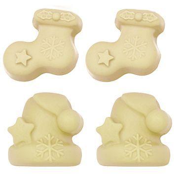 Molde para jabones navideños, Calcetines y Gorros.