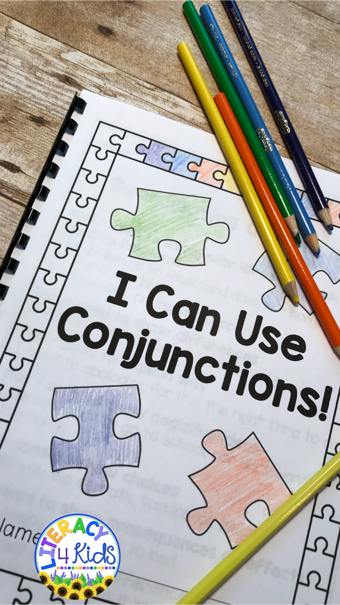 Conjunctions Bundle Worksheets Task Cards Boom Cards