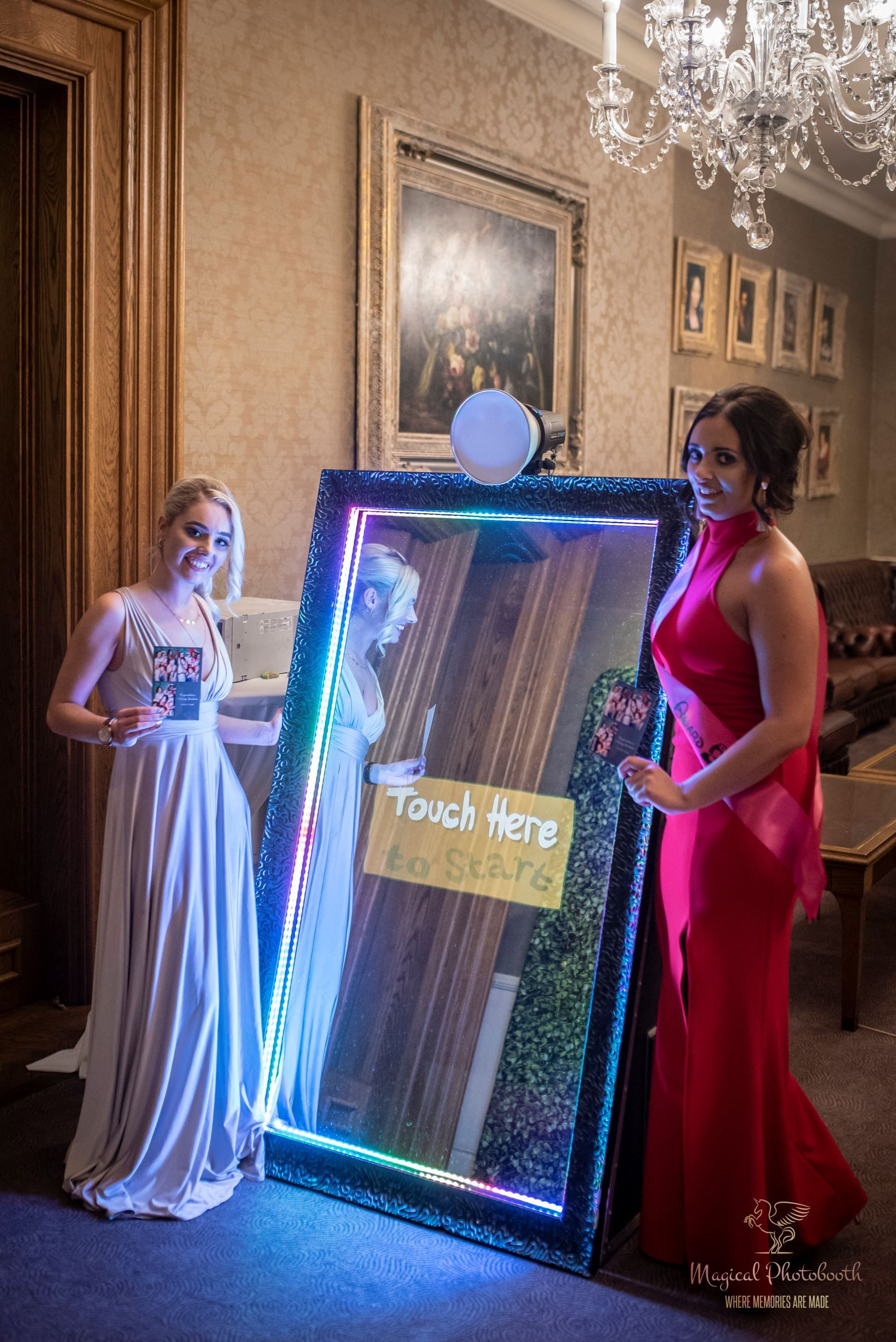 The Elegant Mirror Me Photo Booth By Magical Photo Booth Rental Mirror Photo Booth Mirror Booth Magic Mirror