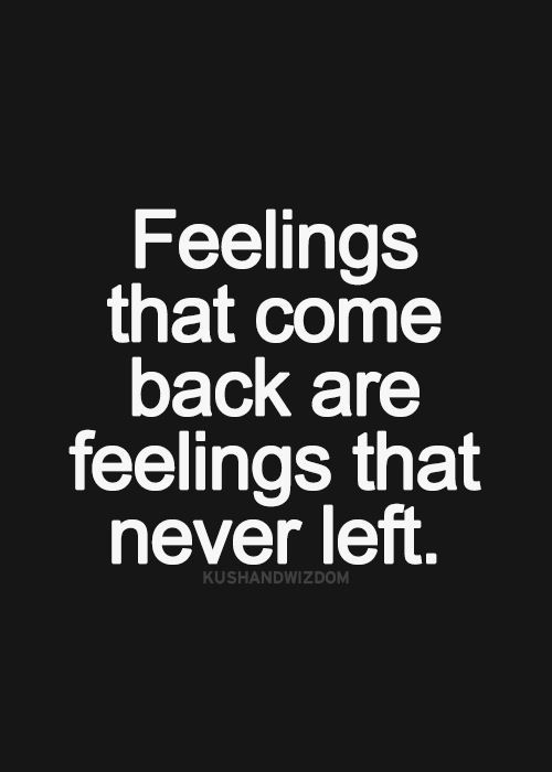 That same old feeling comes back rushing in....