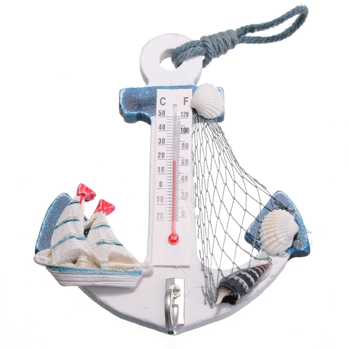 wholesale price free shipping anchor thermometer seashell wholesale price free shipping anchor thermometer seashell starfish net indoor wall art mediterranean style home