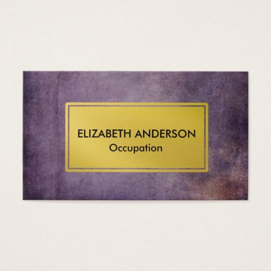 Chic distressed purple gold business cards customize chic distressed purple gold business cards customize businesscards colourmoves