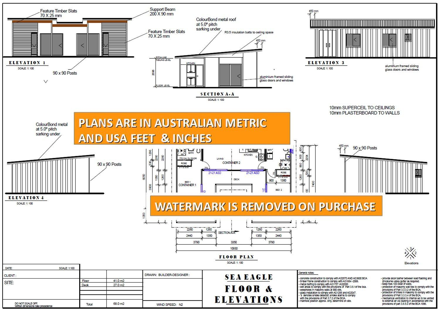 3 X Shipping Containers 2 Bedroom Home Full Construction Etsy Container House Container House Plans Shipping Container House Plans
