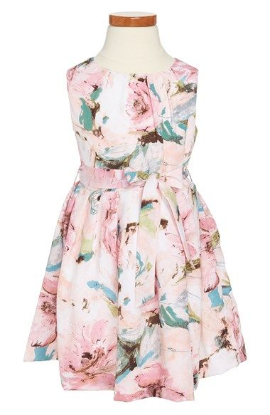 Pippa & Julie Floral Print Dress (Little Girls & Big Girls) available at #Nordstrom