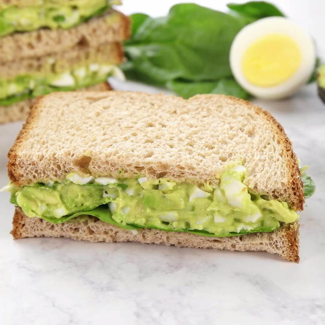 This is the BEST egg salad recipe. You will LOVE the avocado addition! You can use your leftover ha
