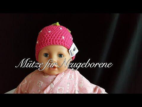Mütze Für Neugeborene Erdbeerboshi Häkelanleitung Babymütze Selber