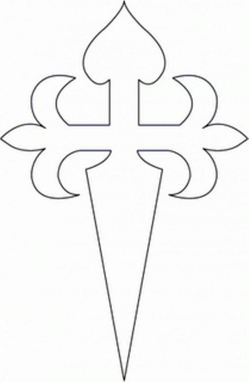St. James Cross - cut-out for Tarta de Santiago