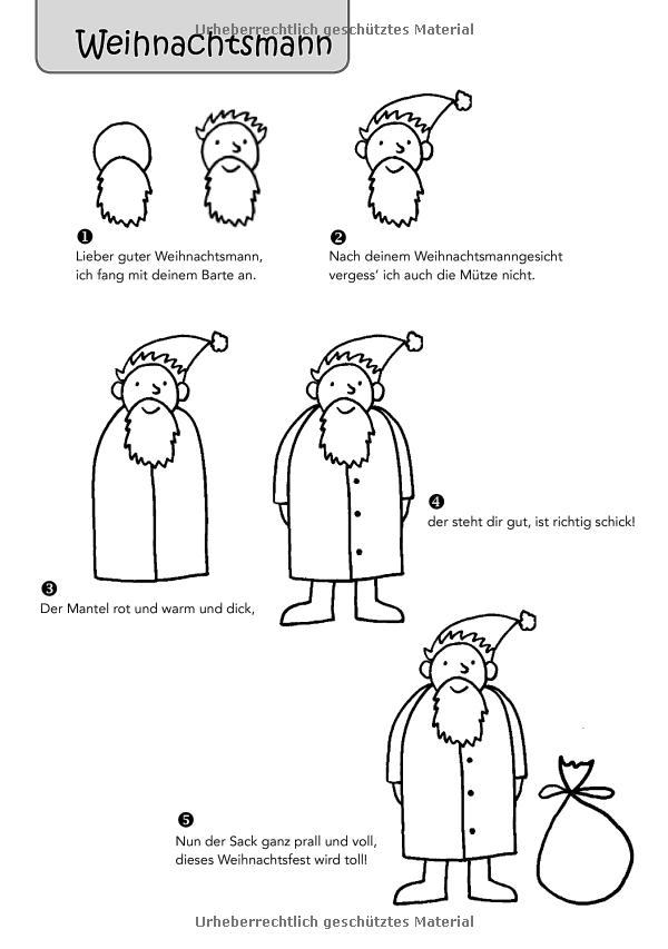 Punkt, Punkt, Komma, Strich: Ich mal den Weihnachtsmann für dich ...