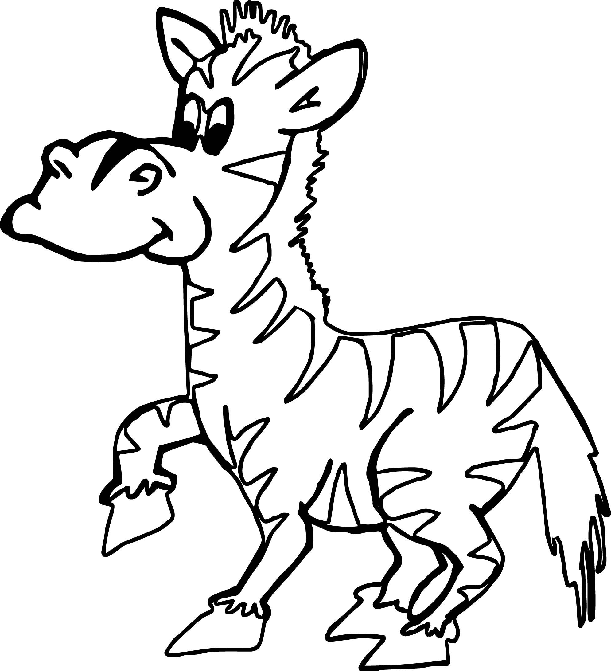 Cool Zoo Zebra Coloring Page With Images