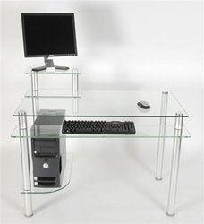 Rta Tier One Desks From Computerdesk Com Glass Computer Desks
