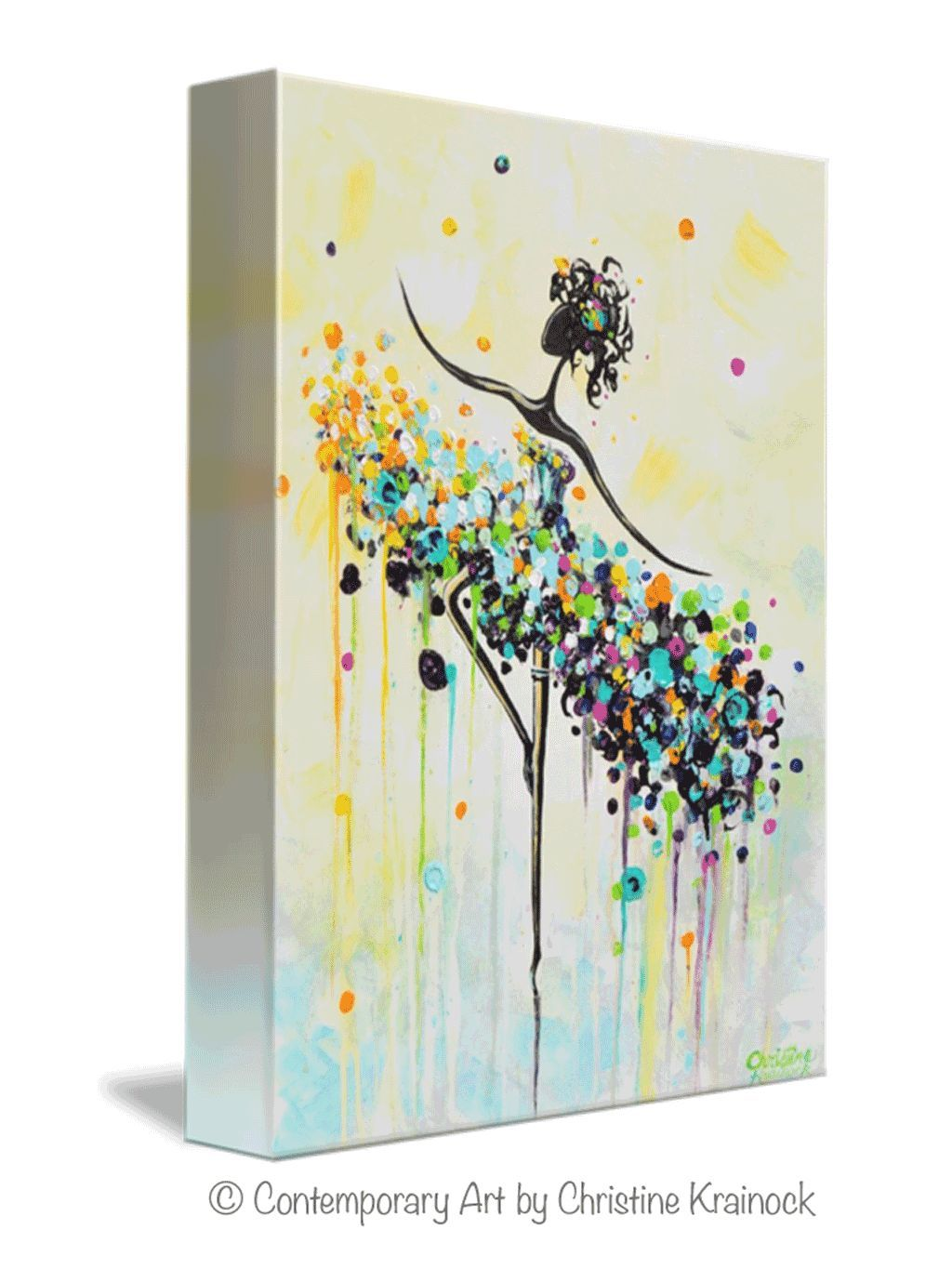 Modern giclee print on gallery canvas dance figurative wall art palette knife paintings colorful aqua blue yellow purple orange green pink also abstract painting dancer prints rh pinterest