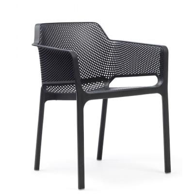 Photo of Net Contemporary Outdoor Arm Chair Anthracite NR-40326-02