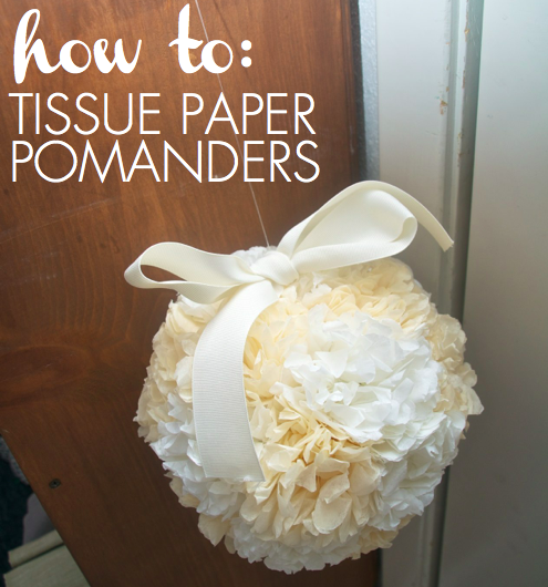how to diy tissue paper pomanders for about  2 30 each