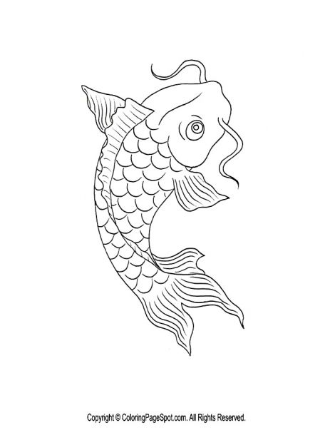 Koi Fish Coloring Page | My Style | Pinterest | Koi, Fish and Embroidery