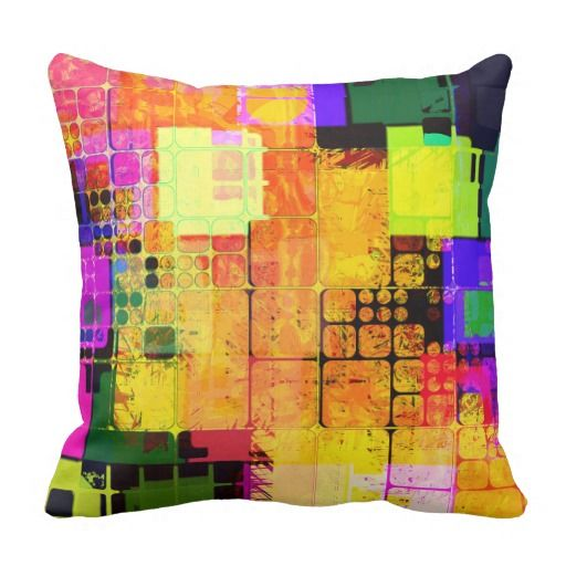 Funky Geometric Multicolored Design Throw Pillow Throw Pillows And Amazing Funky Decorative Pillows