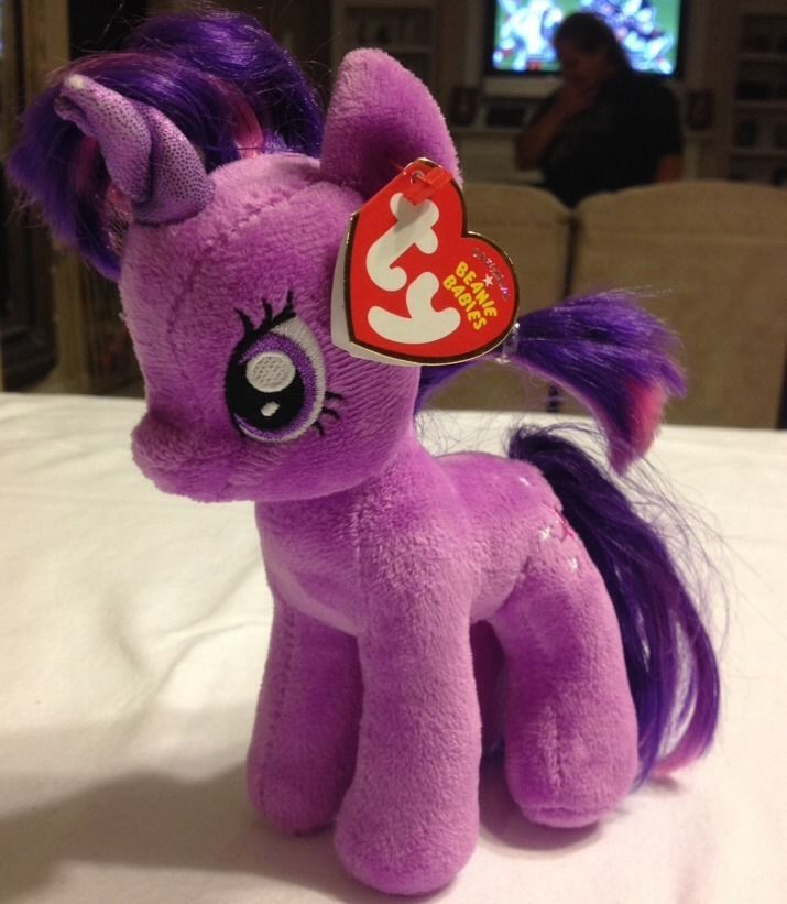 78e0a9046e0 New Ty Hasbro My Little Pony Ponies Twilight Sparkle Beanie Babie MWMT -  RARE
